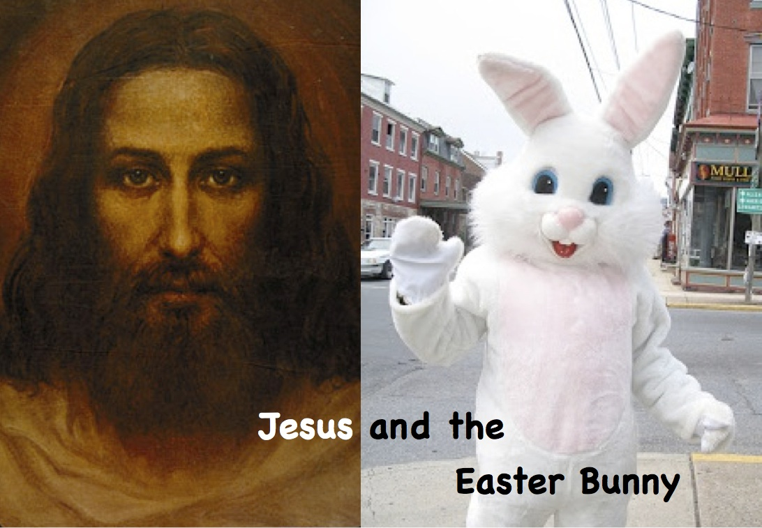 Jesus and the Easter BunnyJesus Easter Bunny
